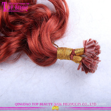 wholesale cheap kinky curly u tip 100% virgin indian remy hair extensions