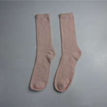 Pink Soft Touch Knit Winter Socks Wholesale
