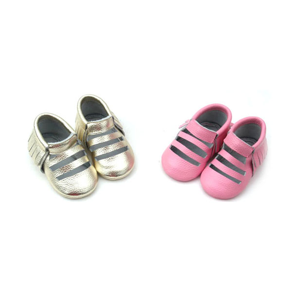 Attractive Breath Comfortable Cow Leather Baby Shoes