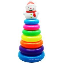Anillo de retención de hombre de nieve Navidad regalo plegable Jenga Toy