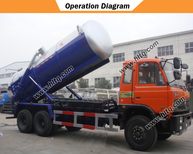 Vacuum suction waste truck