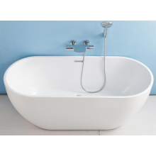 Latest design indoor hotel oval shape simple bathtub