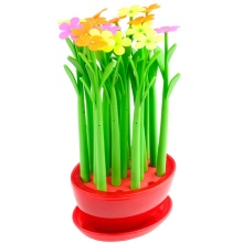 Colorful Flower Pen with Big Flowerpot