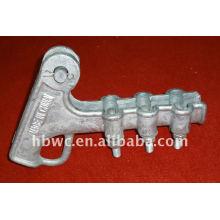 braçadeira elétrica da tensão da liga de alumínio da série NLL do encaixe da potência-encaixe (tipo do parafuso)