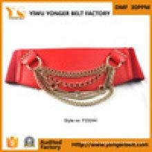 Kleid für Frauen Damen Kette Halskette Metall Gürtel