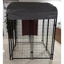 La venta caliente americana soldó con autógena la casa de perro al aire libre de la puerta de la perrera del perro de la malla de alambre