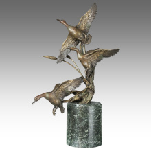Animal Brass Statue Ducks Decoration Bronze Sculpture Tpal-313