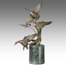Латунь Статуя Утки Животное Украшения Из Бронзы Tpal-313 Скульптура