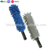 plumero de microfibra flexible, plumero de limpieza de mango corto personalizado