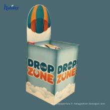 Support d'affichage ondulé d'étagère de plancher de produit de jouet d'enfants de supermarché d'Assemblée facile