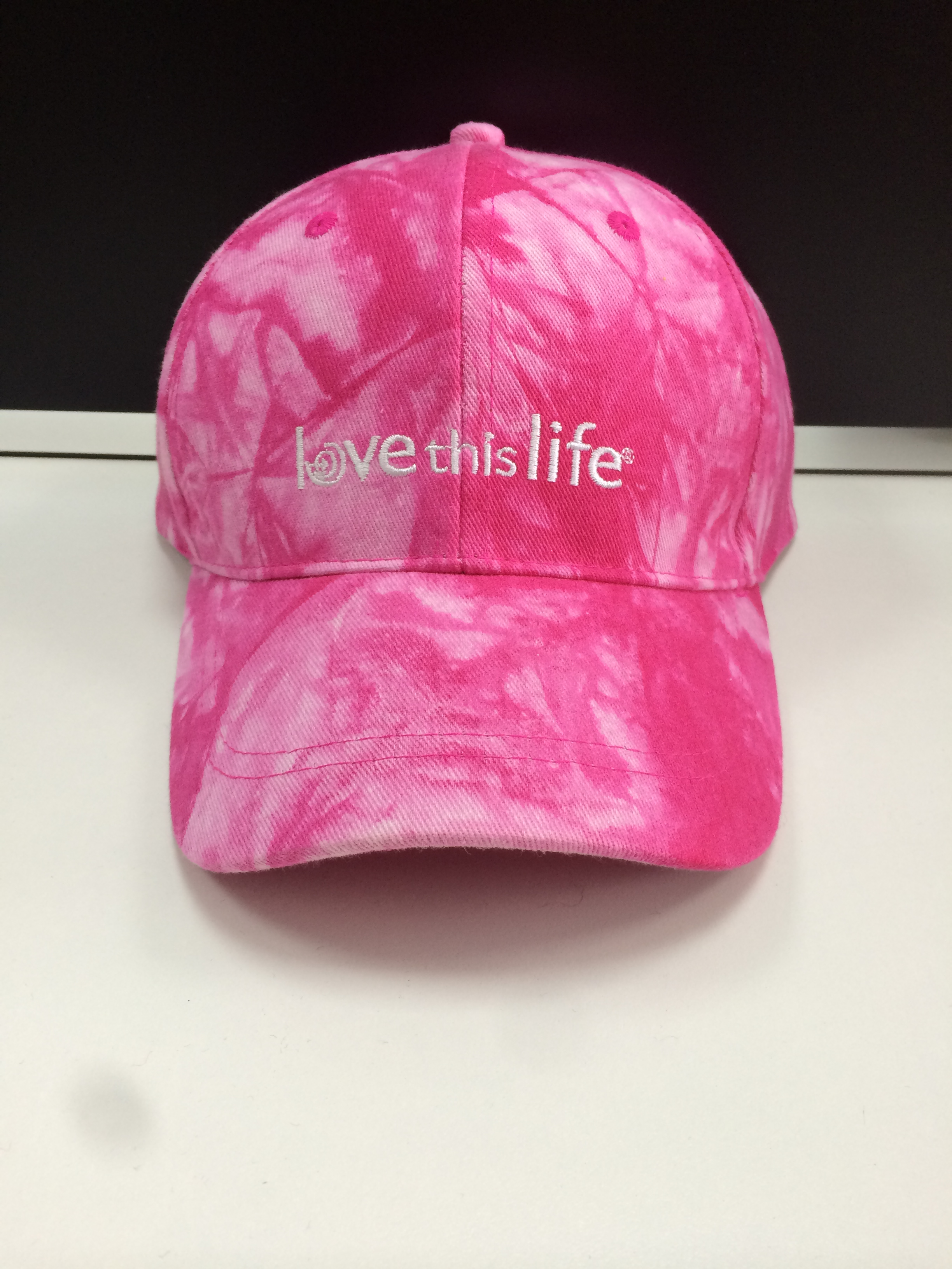Tie-Dyed Fabric Golf Cap Pink