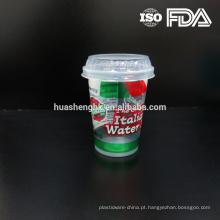 Copo descartável 10oz claro plástico barato da venda quente com plástico da tampa