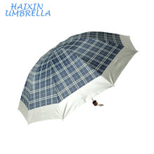 OEM Polyester with Sliver Coating 3 Folding Umbrella