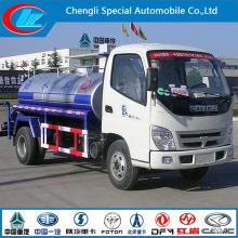 Foton 120HP 5000liter Mini Water Bowser Truck