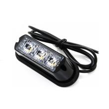 Luz estroboscópica do diodo emissor de luz de 3W mini luz de advertência da grade do estroboscópio de LED