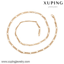 43779 xuping simple gold chain necklace latest design fashion 18k copper alloy jewelry necklace