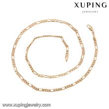 43779 xuping simples corrente de ouro colar mais recente projeto de moda 18 k liga de cobre colar de jóias