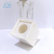 Bouteille en verre de parfum de parfum transparent carré