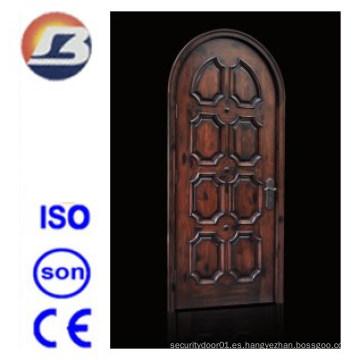Puerta de madera maciza de Meranti