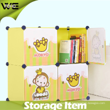Fashion Bedroom Almirah Design Plastic Kids Organizer Wardrobe