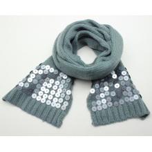 Lady Fashion Acryl Gestrickte Pailletten Winter Langer Schal (YKY4400)