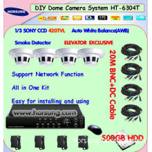 4ch Smoke detector CCTV Security Camera Systems