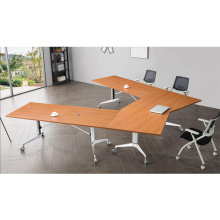 orizeal 8 person central folding conference table for meeting room