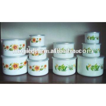 5 pc customized enamel high ice bowl set