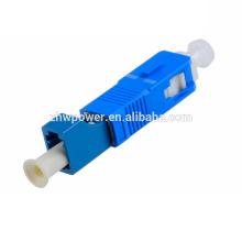 SC / UPC-LC / UPC Adaptador de fibra óptica de un solo modo 9/125, pérdida de inserción baja Adaptador de fibra SC-LC