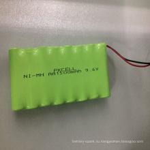 Батарея Ni-MH аккумулятора 9.6 в AA1500mAh аккумуляторная батарея