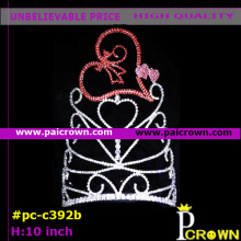 Ab heart flowerbeauty valentines pageant tiara crowns