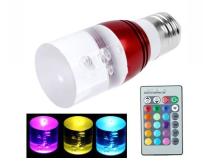 3W RGB LED bulbs with Remote Control