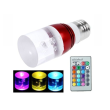 3W RGB LED bulbs with Remote Control