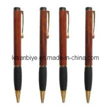 Regalo elemento madera bolígrafo con agarre de goma (LT-C199)