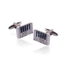 Elegant Elegance Silver Cufflinks Presentes de casamento para homens e mulheres