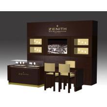 Muebles de cristal del MDF de lujo reloj de diseño tienda