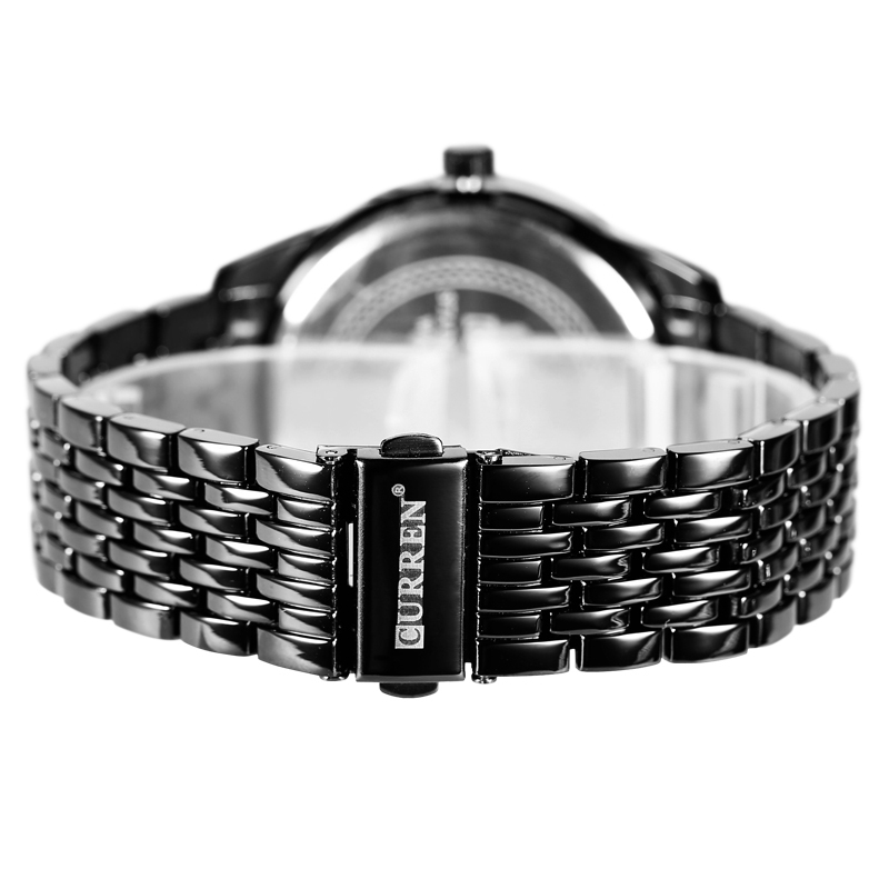 mininalist curren men watch alloy quartz wrist 3 atm water resistant