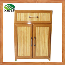 Bamboo Weaving Storage Chest Cabinet