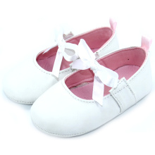 Läder Skor Lace Bow Girl Infant Shoes Wholesale