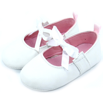 Leren schoenen Lace Bow Girl Infant Shoes Wholesale