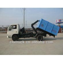 4000L DongFeng mini caminhão de lixo Arm-roll