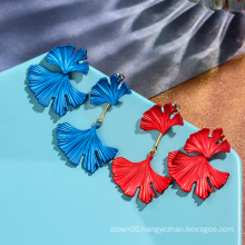 Flower half shaped simple fashion earrings