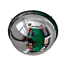 Bigger viewing safety 360 degree view plastic full dome convex mirror, sphere convex mirror/