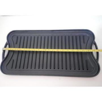 BBQ grilled pan reversilble grill pan cast iron