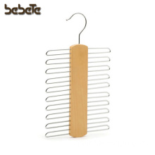 2-Pack,20-Ties Beech Wood Multifunctional Accessories Tie Belts Hanger, with Chrome Hardware