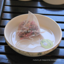 Saco de chá personalizado sacos de chá da forma da pirâmide Chá misturado para relaxar