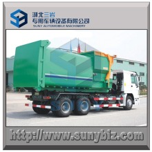 Hook Lifting Truck with 12 M3 Mobile Garbage Compactor Station