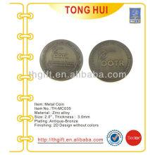 Moeda comemorativa de metal, moeda de lembrança para pesquisa de tradução