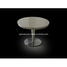 Post de estilo moderno em madeira redonda mesa de chá (LS-846)