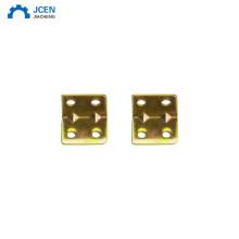 Custom case fittings connecting brass corner plate brace brackets